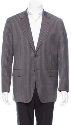 Canali Wool Stripe Two-Button Blazer