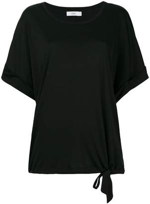 Closed waist-tied shift T-shirt