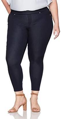 Denim Crush Women's Indigo Pull On Jegging Jean Plus Size