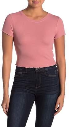 June & Hudson Marrowed Short Sleeve Crop Top