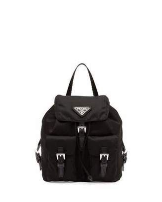 Prada Vela Mini Crossbody Backpack Bag, Black (Nero) $950 thestylecure.com