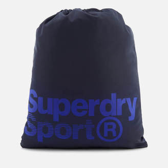 Superdry Sport Men's Drawstring Sports Bag - Navy/White