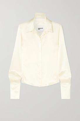 Orseund Iris Silk-satin Shirt - Cream