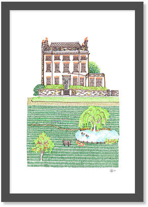 rooftop illustrations Personalised Illustration Of Your Home Or Special Place