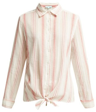 Melissa Odabash Inny Striped Cotton Shirt - Womens - Red Stripe