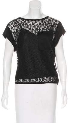 Marc by Marc Jacobs Lace Cap Sleeve Top