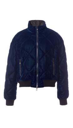 Tibi Velvet Quilted Cropped Jacket
