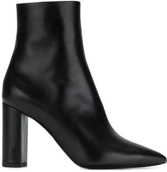 Saint Laurent high heeled ankle boots