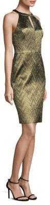 Trina Turk Mackie Metallic Jacquard Dress