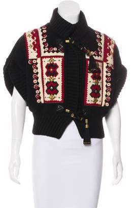 Gucci Rib Knit Short Sleeve Sweater