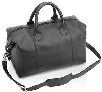 ROYCE New York Leather Overnighter Duffel Bag