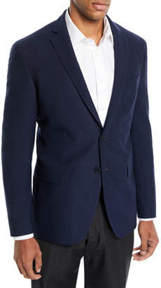 BOSS Men's Wool-Cotton Knit Two-Button Jacket