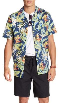 Onia Vacation Short Sleeve Floral Print Woven Regular Fit Shirt