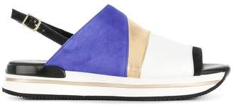 Hogan colour block slingback sandals