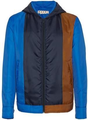 Marni color block hooded jacket
