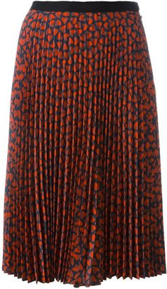 Ps By Paul Smith hearts print pleated skirt $375 thestylecure.com