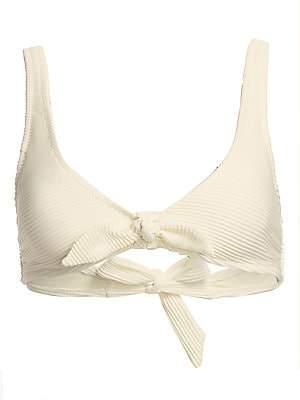 Heidi Klein Women's Cote D-Azur Knot-Front Bikini Top
