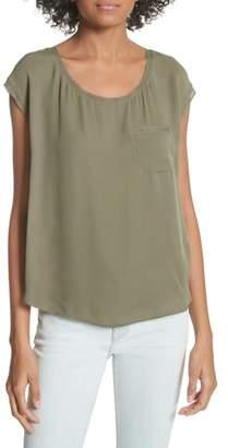 Joie Hina Silk Pocket Top