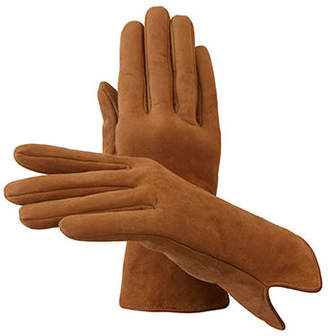 Aspinal of London Ladies Sheepskin Lined Suede Gloves