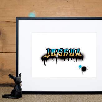 Wordplay Design Personalised Graffiti Name Print