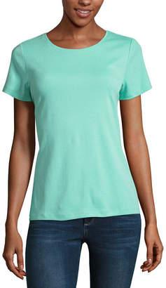 ST. JOHN'S BAY Short Sleeve Scoop Neck T-Shirt - Tall