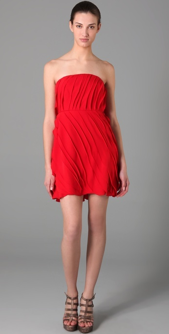 Adam Strapless Ruffle Dress