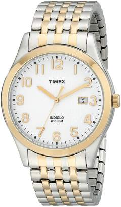 Timex Men's T2P2029J Elevated Classics Two-Tone Dress Watch with Expansion Band