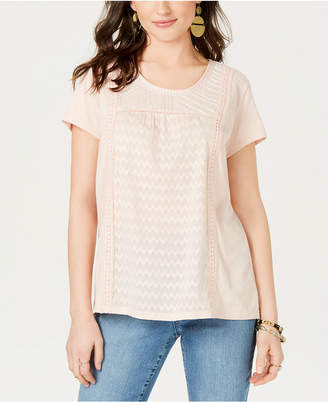 Style&Co. Style & Co. Mixed-Print T-Shirt