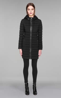Mackage CALNA Mid-thigh lightweight down coat with drawstring hood