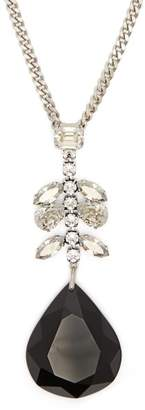 Isabel Marant Crystal Embellished Pendant Necklace - Womens - Black