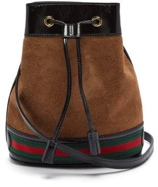 Gucci Ophidia Suede Bucket Bag - Womens - Tan Multi