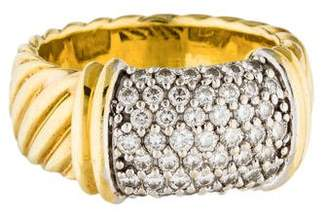 David Yurman 18K Diamond Metro Ring