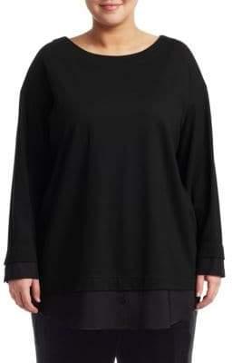 Lafayette 148 New York Lafayette 148 New York, Plus Size Knox Layered Button-Sleeve Sweater