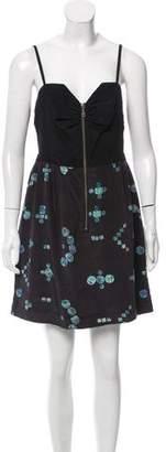 Vena Cava Geometric Print Silk Dress