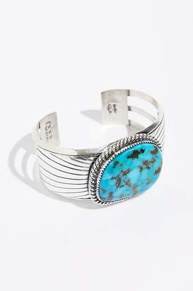 Navajo Arts & Crafts Enterprise Square Chinese Turquoise Cuff