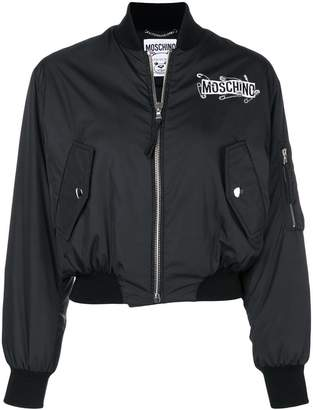 Moschino safety pin logo bomber