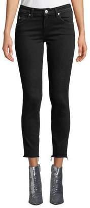 Amo Denim Stix Cropped Raw-Edge Skinny Jeans