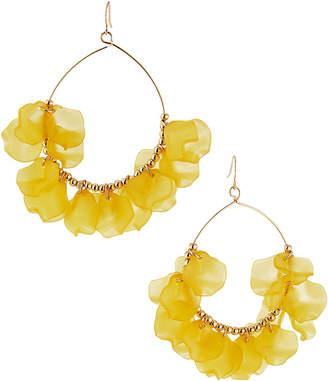 Natasha Accessories Limited Lucite Flower Hoop Earrings