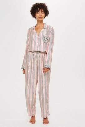 Topshop Key To Freedom Stripe Pyjama Trousers