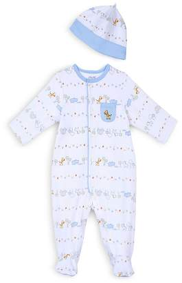 Little Me Boys' Safari Print Footie & Hat Set - Baby