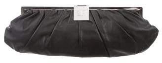 Sonia Rykiel Gathered Leather Clutch