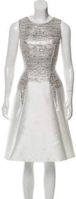 Bibhu Mohapatra Metallic Woven Dress Silver Bibhu Mohapatra Metallic Woven Dress