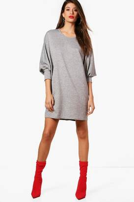 boohoo Oversized Batwing Knitted Dress