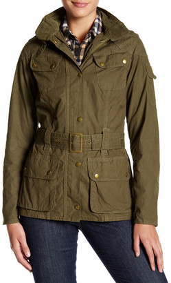 Barbour Front Zip Waist Belt Jacket $299 thestylecure.com