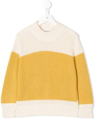 Tiny Cottons colour block knitted jumper
