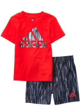 adidas Infant Boys) Two-Piece Logo Athletic Tee & Shorts Set