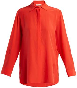 The Row Big Sisea silk crepe de Chine shirt