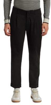 Saks Fifth Avenue MODERN Pleated Cropped Trouser