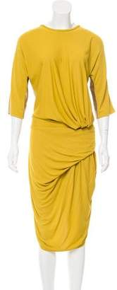 Costello Tagliapietra Silk-Accented Midi Dress
