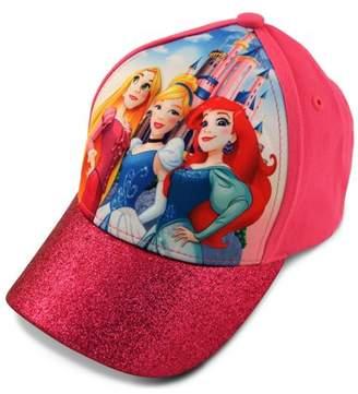 Disney Little Girls Princess Character 3D Pop Cap, Rapunzel, Cinderella, Ariel Princesses, Age 4-7